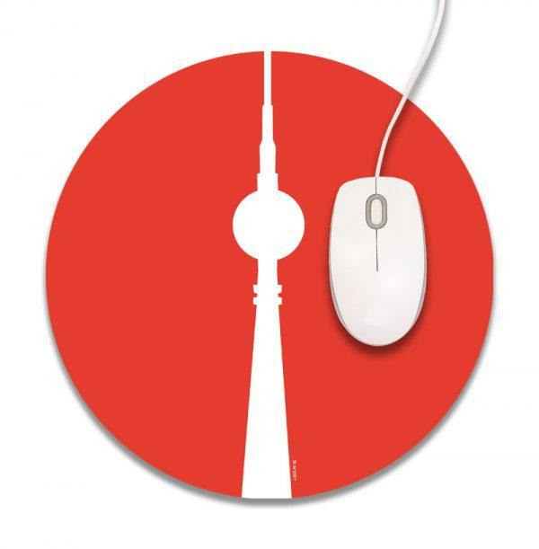 Mousepad Berlin rot rund