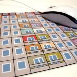 Designmousepad mit Fassadenmotiv