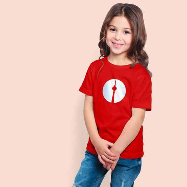 Berli Kindershirt Fernsehturm rot