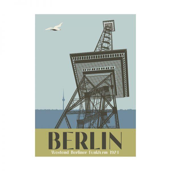 Postkarte Berlin Funkturm Messe Berlin