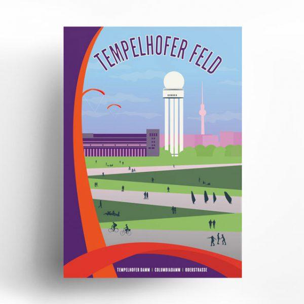 Poster Berlin Tempelhofer Feld