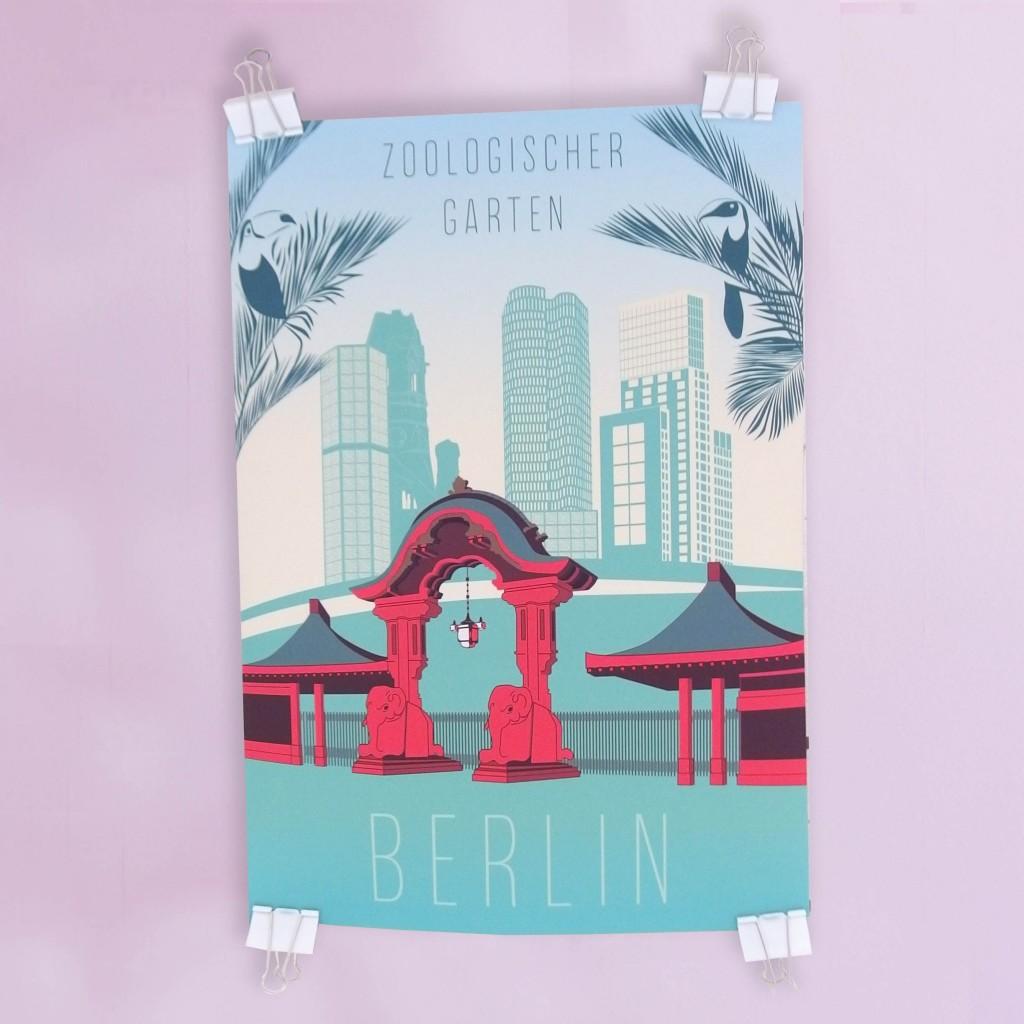 Berlin City West Poster Rero
