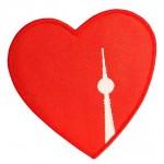 Berlin Aufnäher Patch Fernsehturm Herz
