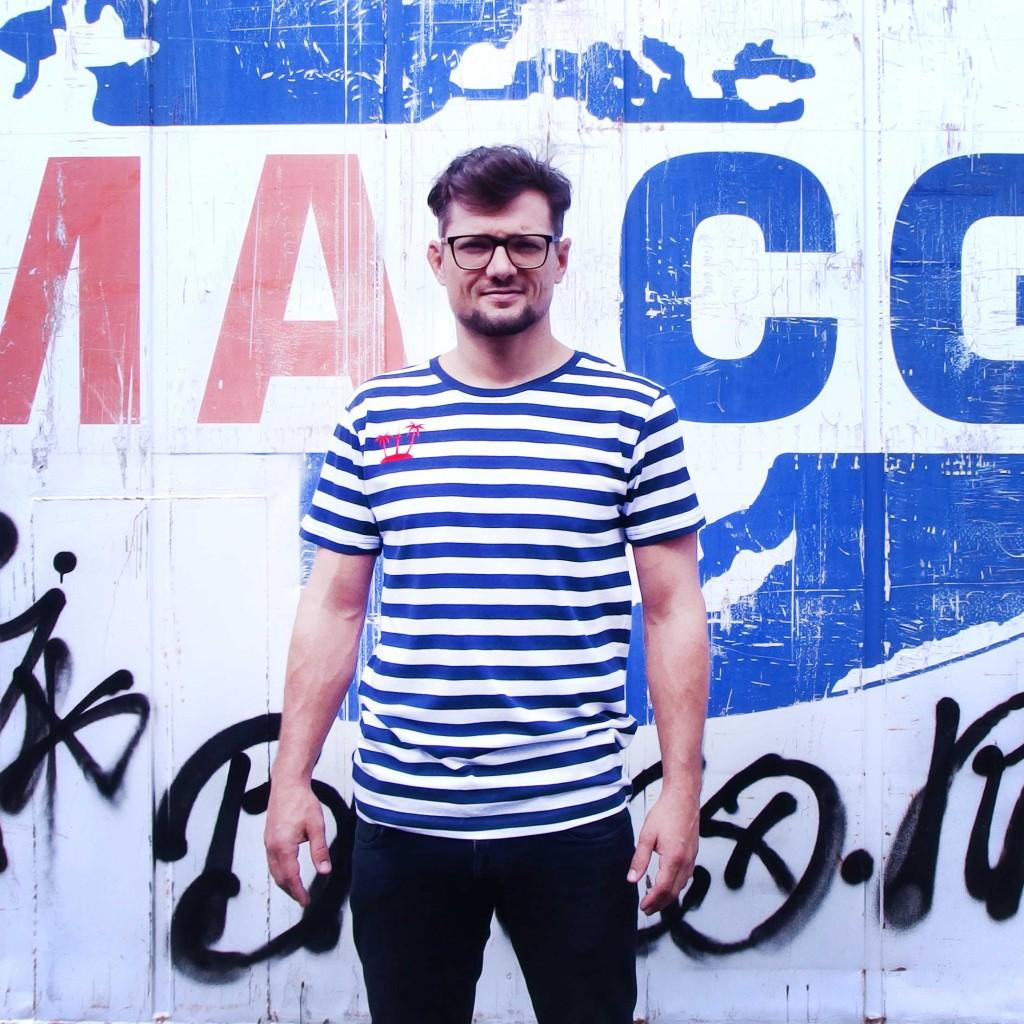 Picassoshirt Streifenshirt Mann navy weiss Berlin