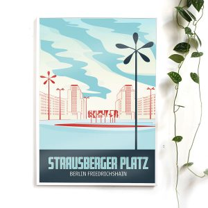 Berlin Poster Strausberger Platz