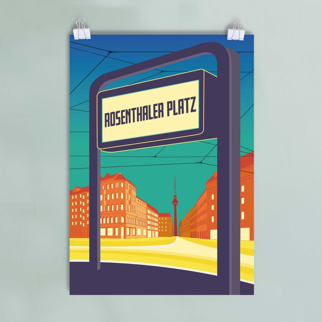 Berlin Mitte Poster Rosenthaler Platz DinA2