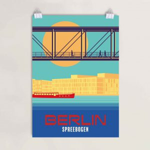 Poster Regierungsviertel Berlin Marie Elisabeth Lüders Spree