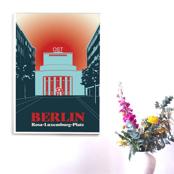 Poster Berlin Rosa-Luxemburg-Platz