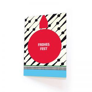 Weihnachtskarte Design 80ies Berlin