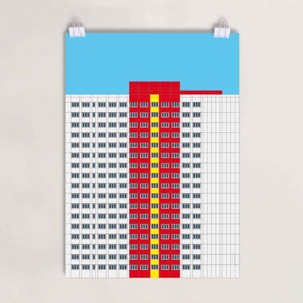 Digigraphie Berlin Architektur Print Minimal