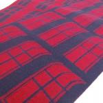 Strickdesign berlin rot blau Merinowolle