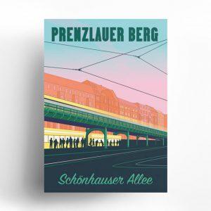 Poster Schönhauser Allee Berlin