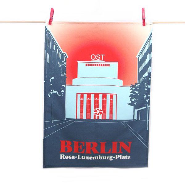 Berlin Geschirrtuch Rosa-Luxemburg-Platz