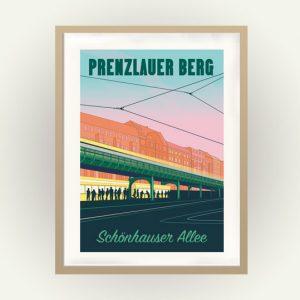 Retro Poster Berlin Schönhauser Allee Konnopke