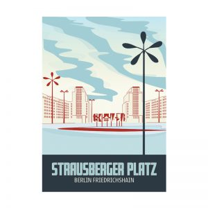 Postkarte Berlin Strausberger Platz