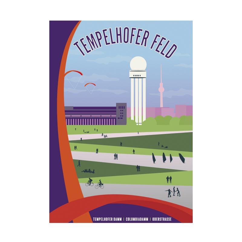 Postkarte Berlin Tempelhofer Feld