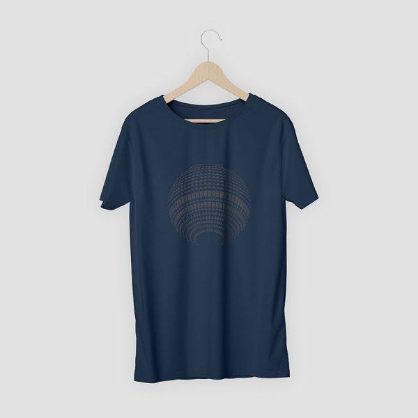 T-Shirt Berlin Fernsehturm marineblau