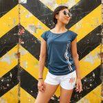Berlin Shirt Fernsehturm blau Frau