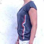 Berlin Shirt Fernsehturm grau Frau