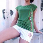 Berlin Shirt Fernsehturm grün Frau