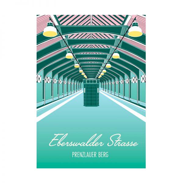 Postkarte Grafik Berlin Eberswalder Strasse
