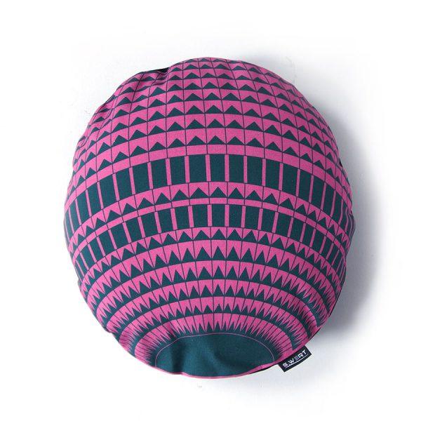 Rundes Kissen Yogakissen Berlin Fernsehturm pink