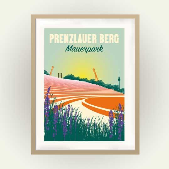 Poster Berlin Prenzlauer Berg Mauerpark