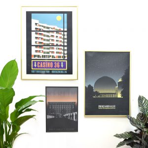 Berlin Poster im Rahmen