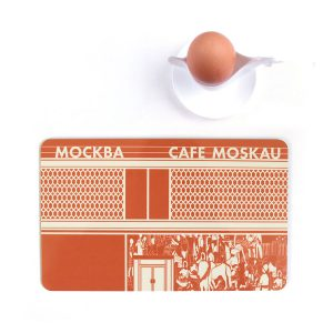 Berlin Cafe Moskau Frühstücksbrettchen Ostmodern