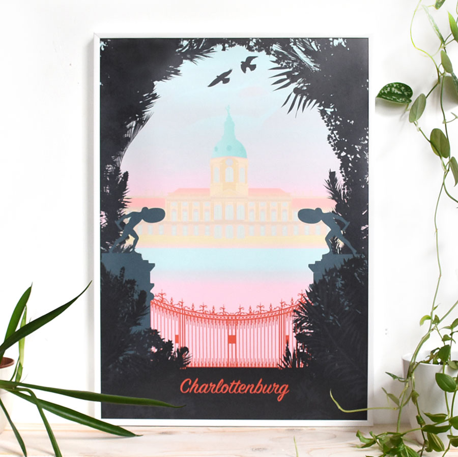 Berlin Travelposter Schloss Charlottenburg