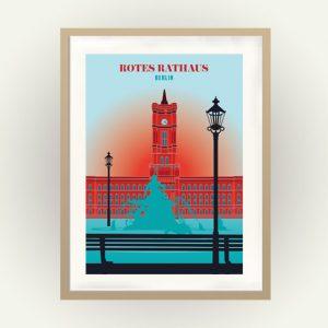 Berlin Poster Rotes Rathaus