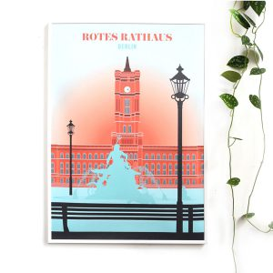 Berlin Travelposter Rotes Rathaus