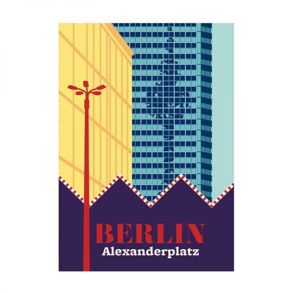 Berlin Alexanderplatz Postkarte Spiegelung Fernsehturm