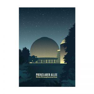 Berlin Prenzaluer Berg Postkarte Planetarium