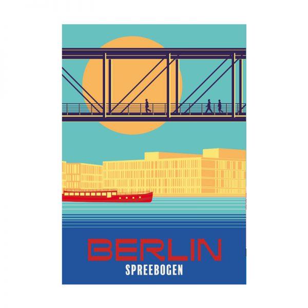 Berlin Spree Regierungsviertel Postkarte