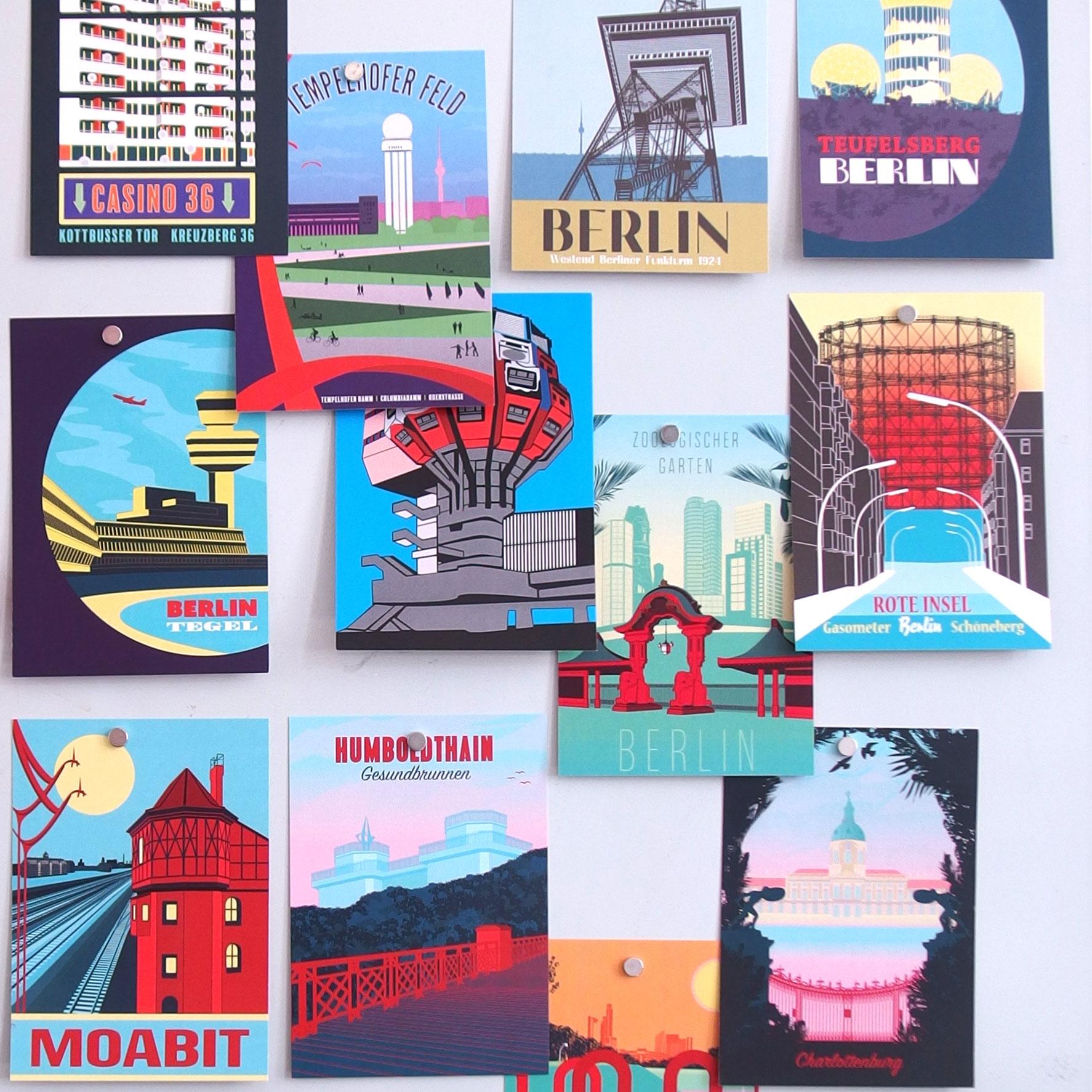 Postkartencollage Berlin