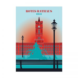 Postkarte Berlin Rotes Rathaus
