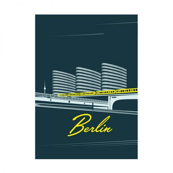 Berlin Grafik Postkarte s.wert