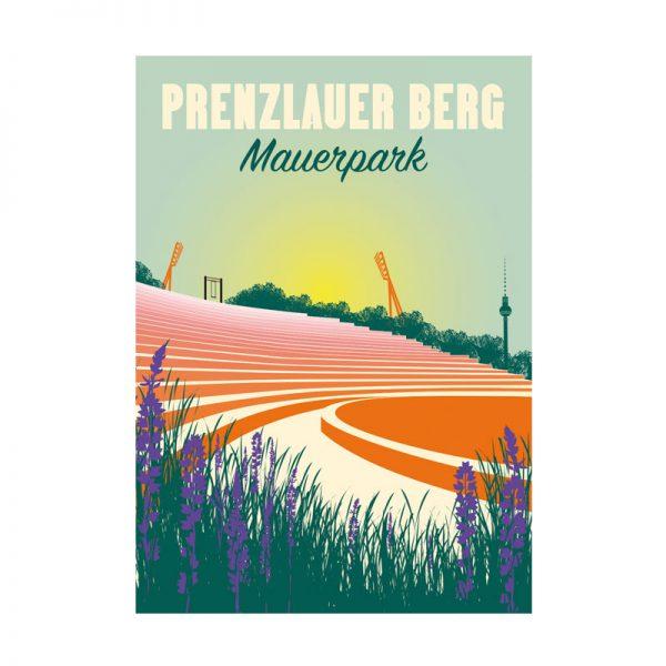 Retro Postkarte Berlin Mauerpark