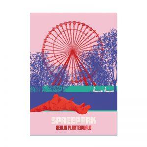 Retro Postkarte Berlin Spreepark Plänterwald