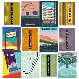 ubahn postkarten swert