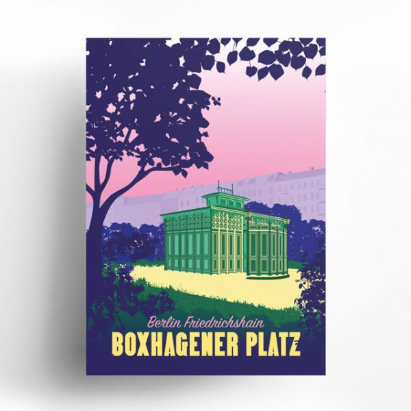 Poster Berlin Friedrichshain Boxi