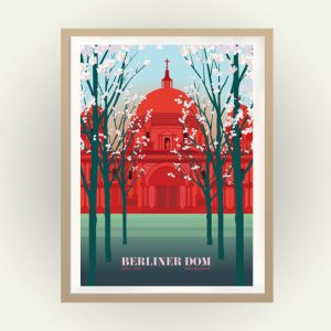 Berliner DOm Poster Reiseplakat