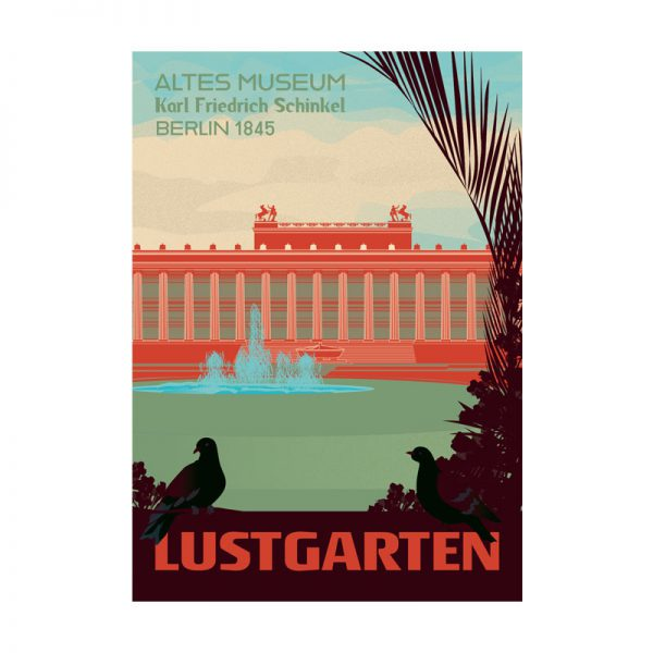 Postkarte Retro Berlin Lustgarten