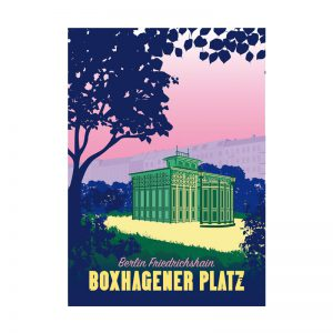 Berlin Postkarte Retro Illustration Boxi