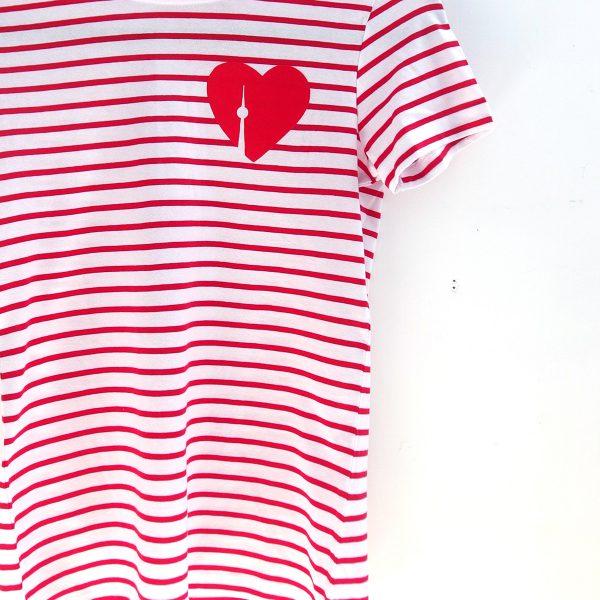 Berlin Fernshetumr Shirt Streifen rot weiss