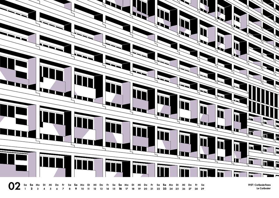 Corbusierhaus berlin Illustration