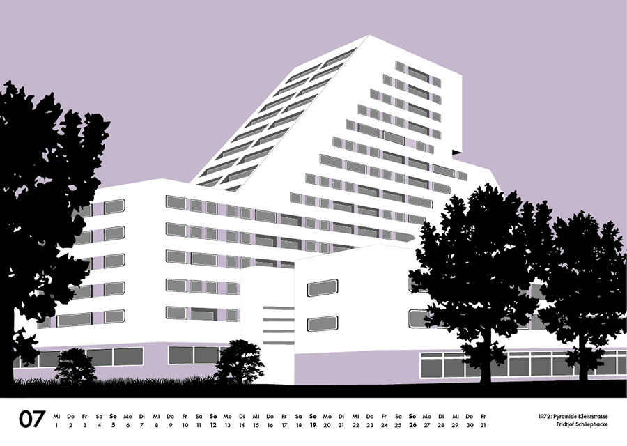 Moderne Architektur Berlin Illustration