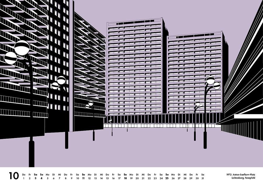 Grafik Anton Saefkow Platz