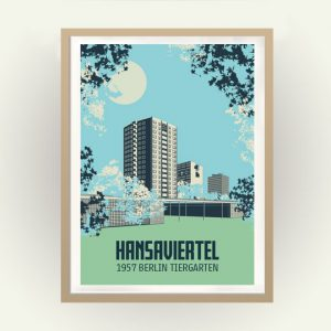 Berlin Poster Hansaviertel IBA 1957 Retro